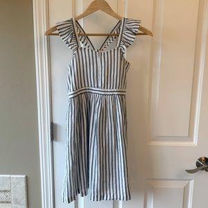 GAP Sz 10 Girls Linen Striped Dress
